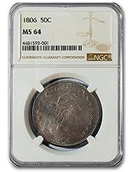 1806 Draped Bust Half Dollar MS-64 NGC Half Dollar MS-64 NGC