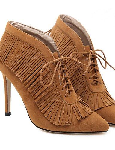 XZZ  Damenschuhe - Stiefel - Outddor - - - Kunstleder - Stöckelabsatz - Komfort - Schwarz   Braun B01L1GIWTW Sport- & Outdoorschuhe Wirtschaftlich und praktisch d1e02a