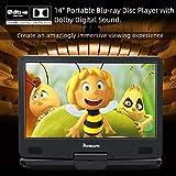 "NAVISKAUTO 14"" Portable Blu-Ray DVD Player with"
