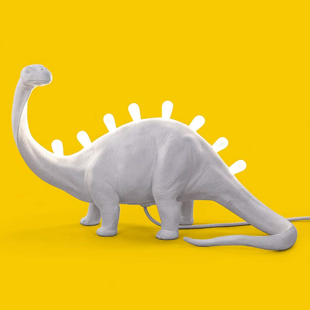 Seletti Jurassic Lamp Bronto Dinosaurierförmige Dinosaurierförmige Dinosaurierförmige Tischleuchte weiß 809a35