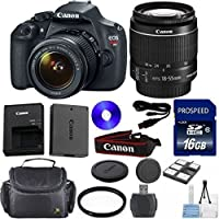 Canon Rebel T5 DSLR Camera Bundle with Canon 18-55mm IS II Standard Lens and Deluxe Camera Case (14 Items) Noticeable Review Image