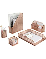 Blu Monaco 5 Piece Desk Organizer Set photo