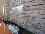 """APONUO 35.4"""" Spillway Water Wall Blade,Stainless"""