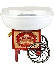 Gadgy ® Retro sockervaddsmaskin för hemmabruk   Cotton Candy Machine   fungerar med socker eller hårt godis  Sockervaddsmaskin för barnkalas  Röd & Vit