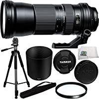 Tamron SP 150-600mm f/5-6.3 Di VC USD Lens for Nikon + 95mm Multi-Coated UV Filter + 75-inch 3-way Panhead Tilt Motion with Built In Bubble Leveling Tripod + Microfiber Cleaning Cloth Basic Intro Review Image