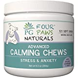 - Calming Soft Chews - Dogs - Hemp Oil Infused Treats - Supports Anxiety & Stress Relief - Chamomile Powder, Passion Flower, Valerian Root, TRYPTOPHAN & Ginger Root - 120 Count