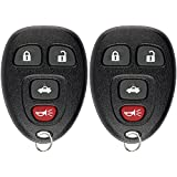 KeylessOption Keyless Entry Remote Control Car Key Fob Clicker Replacement For 22733523 (Pack of 2)