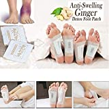 Thethan 50 Pcs Anti-Inflammation Sweilling Ginger Foot Patch Organic Herbal Kinoki Detox Pads