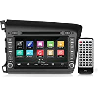 2012 Honda Civic Replacement Stereo Receiver System, GPS Navigation, Bluetooth Wireless, CD/DVD Player, AM/FM Radio, 8'' Video Display, Double DIN (PHOCIV12)