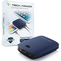 Tech Armor 12000mAh Dual USB Power Bank, Blue