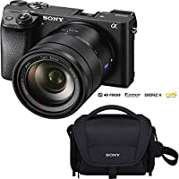 Sony Alpha a6300 4K Mirrorless APS-C (ILCE-6300) Digital Camera with (SEL1670Z) 16-70mm f/4 Prime Lens - Black
