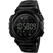 EOBP men's smart watch,Outdoor Sports Smart watch Waterproof 50 Meters, Pedometer for Android and IOS Smartphone Calorie Counter 1303D (black)