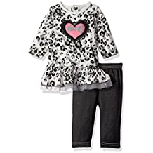 "Bon Bebe Baby Girls' ""Cheetah Heartbeat"" 2-Piece Outfit"
