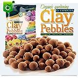 Organic Expanded Clay Pebbles Grow Media - Orchids • Hydroponics • Aquaponics • Aquaculture Cz Garden (2 LBS Cz Garden Expanded Clay Pellets)
