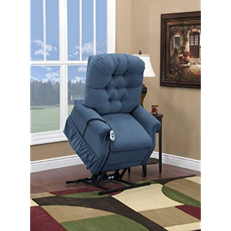 Med Lift 1555P Small Scale Lift Chair Williamsburg Blue