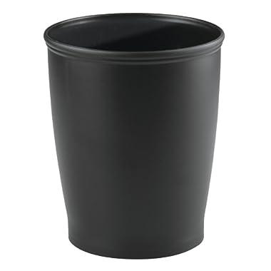 InterDesign Kent Wastebasket Trash Can for Bathroom, Kitchen, Office - Black