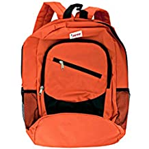 Standard Backpack Multiple Pockets Comfortable Padded Straps Orange