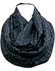 Math scarf infinity scarves with mathematics formulas Nerdy calculus infinity scarf for Engineers, Students, Teachers, Mathematicians, Physicists, Researchers, Pharmacists, Nerds, Geeks, Mathematicians, and Biologists