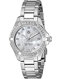 Womens WAY1314.BA0915 300 Aquaracer Diamond-Accented Stainless Steel Bracelet Watch · TAG Heuer