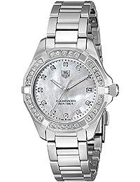 Womens WAY1314.BA0915 300 Aquaracer Diamond-Accented Stainless Steel Bracelet Watch