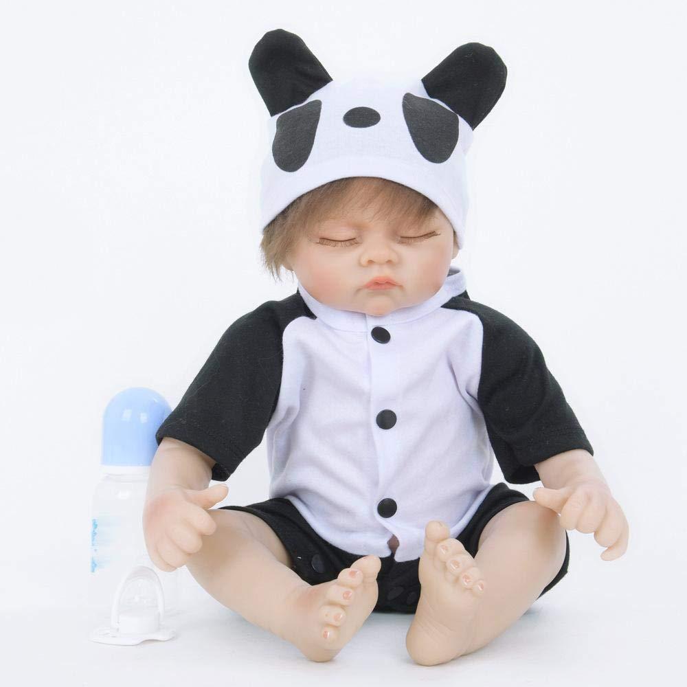 Hongge Reborn Baby Doll,Lebensechte Reborn Baby Baby Play Play Spiel Unterhaltung Partner Rebirth Doll 55cm