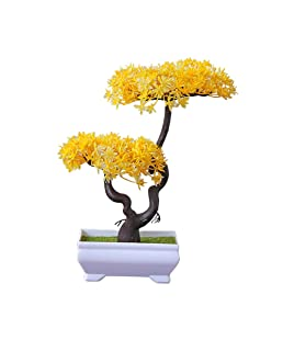 BIGBOBA Simulation Grass Ball Large Bonsai Potted Plants, Evergreen Tree Olive Tree Home Bonsai Ornaments, Living Room Balcony Decoration, 26cm*16cm, Plastic Flower