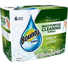 """Bounty with Dawn Large Rolls Multipurpose Cleaning Paper Towels, 49 sheets, 6 rolls 14.00"""" x 9.30"""" x 11.00"""""""