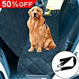 "THSITY Dog Car Back Seat Cover, Pet Car Bench Seat Protector for Trucks & SUVs, Nonslip & Waterproof Hammock Convertible, Easy Clean, 54"" * 58"" (Black)"