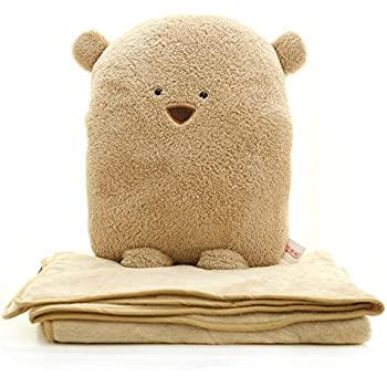 Zuwit 3 In 1 Bear Travel Blanket Amp Hand Warm Amp Pillow Set