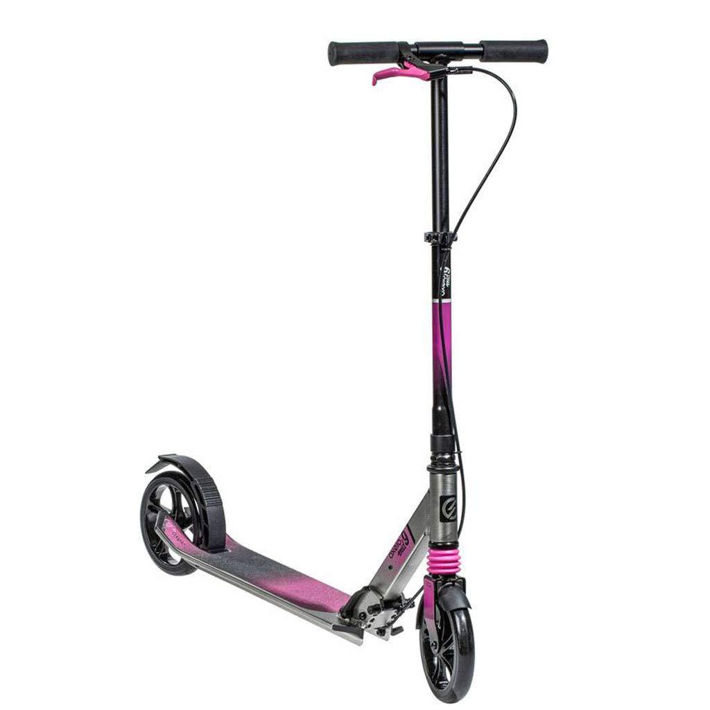 高級スクーター安全ハンドブレーキ折りたたみ式調節可能な最高の贈り物調節可能なキックスクーター、大人の十代の若者たちのための通勤スクーター、屋外スポーツ(サポート220ポンド)