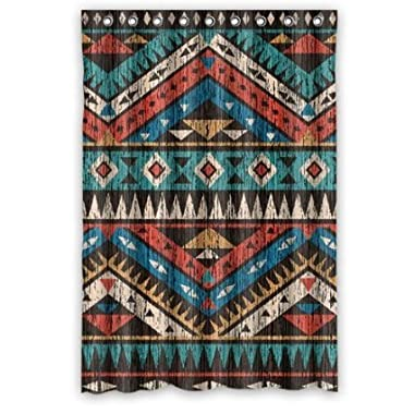 Vintage Aztec Pattern Shower Curtain 66  by 72