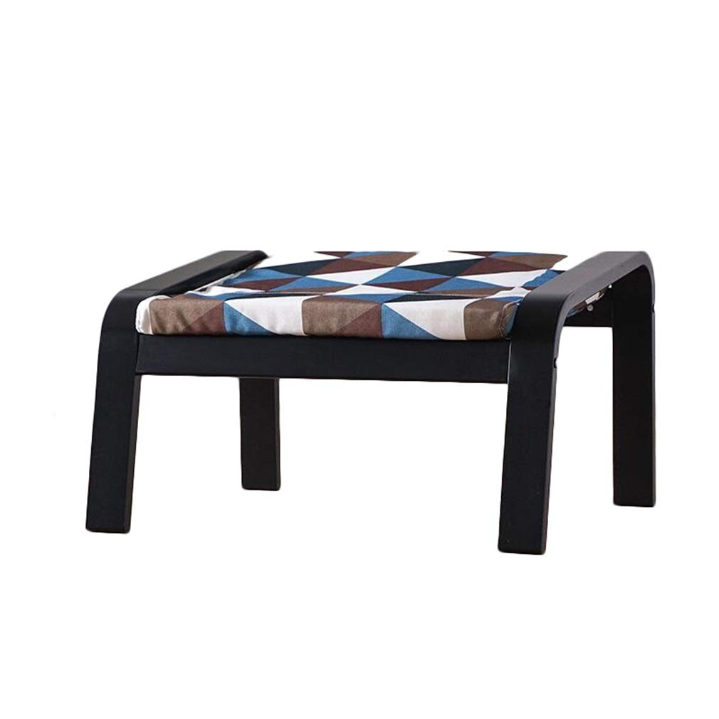 G 665mmX510X370MM AGLZWY Footstool Multipurpose Solid Wood Cloth Space Saving Fashion Creative Assembled Living Room Change shoes Bench Square Stool, Multicolor, 665mmX510X370MM (color   C, Size   665mmX510X370MM)