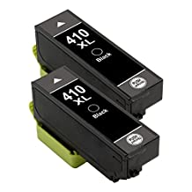 Colour-Store 2x Black Remanufactured 410 410XL T410 Ink Cartridges for Compatible for Epson Expression XP-530, XP-630, XP-635, XP-640 and XP-830 Printer