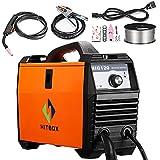 MIG Welder 120 Amp 220V DC Portable Mini Inverter Mig Welding Machine Orange with Mig Torch Earth Clamp