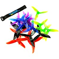 DALPROP 5 Pack (20pcs) Cyclone T5046C 5046 3 Blades (5.0 x 4.6) 10 x CW | 10 CCW Props for FPV Racing Quadcopter - 5 Complete Sets