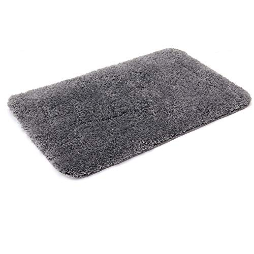 COSY HOMEER 30X20 Inch Bathroom Shower Mat with Super Slim Polyester Fabric Anti Slippery Bath Rugs Which is Machine Washable and Water Absorbent Fuzzy Mat