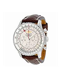 Breitling Navitimer GMT Automatic Brown Leather Mens Watch AB044121-G783BRCT