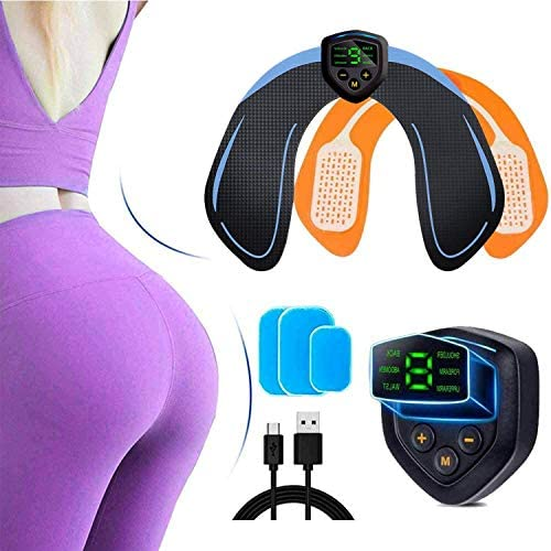 Hip Trainer Electric Hips Trainer, Abs Stimulator Buttock Muscle Toner Smart Butt Toner Workout Equipment Ab Machine Fitness Muscle Stimulator for Women Men