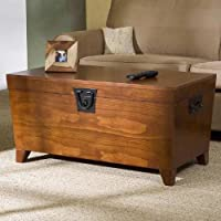 Southern Enterprises CK1224T Pyramid Trunk Cocktail Coffee Table,