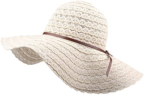 Summer Beach Sun Hats For Women - FURTALK UPF Woman Foldable Floppy Travel  Packable UV Hat Cotton 0d232476f0b8