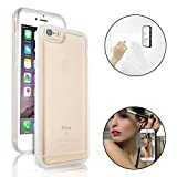Bonice Anti-Gravity Selfie Case for iPhone 6 Plus/6S Plus, Magical Nano Sticky Hands Free Stick to Glass, Tile, Car GPS, Most Smooth Surface - White