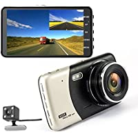 Car Camera front and rear 4.0 inch DVR Dual Lens Video Recorder WDR Dash Cam Night Vision back G-Sensor Registrator Auto Wide Angle