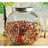 Circleware Yorkshire Mason Glass Cookie Jar with Metal Lid, 1.5 Gallon