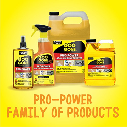 Goo Gone Pro-Power Spray Gel - 24 Ounce - Surface Safe, Great Cleaner, No Harsh Odors, Removes Stickers, Can Be Used On Tools