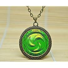 SunShine Day Fashion Necklace Forest Medallion Legend Of Zelda Necklace Glass Cabochon Necklace A3258