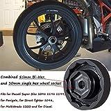 Front & Rear Wheel Axle Nut Socket Tool 30mm + 50mm