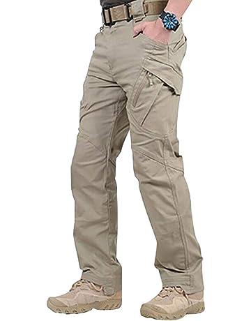 58f04ca563e49 Wellouis Pantalon Long imperméable à l'eau pour Homme, avec Poches,  Pantalons Amples
