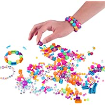2-in-1 ABC Beads & Charms Personalized Friendship Bracelet Jewelry Making Kit - Over 1000 Beads