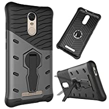 Hongmi note3 Case,2 in 1 New Armour Tough Style Hybrid Dual Layer Armor Defender PC Hard Cases with Stand [Shockproof Case] for Hongmi note 3 ( Color : Black-Red Mi Note3 )