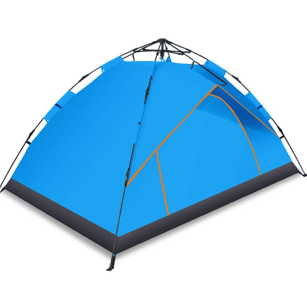 YaNanHome Zelt-im Freienzelt-hydraulische Geschwindigkeits-offenes Zelt verdicken regendichtes Zelt 1-2 Leute-kampierendes Zelt-Paar-Zelt (Farbe   Blau, Größe   210  135  110cm)